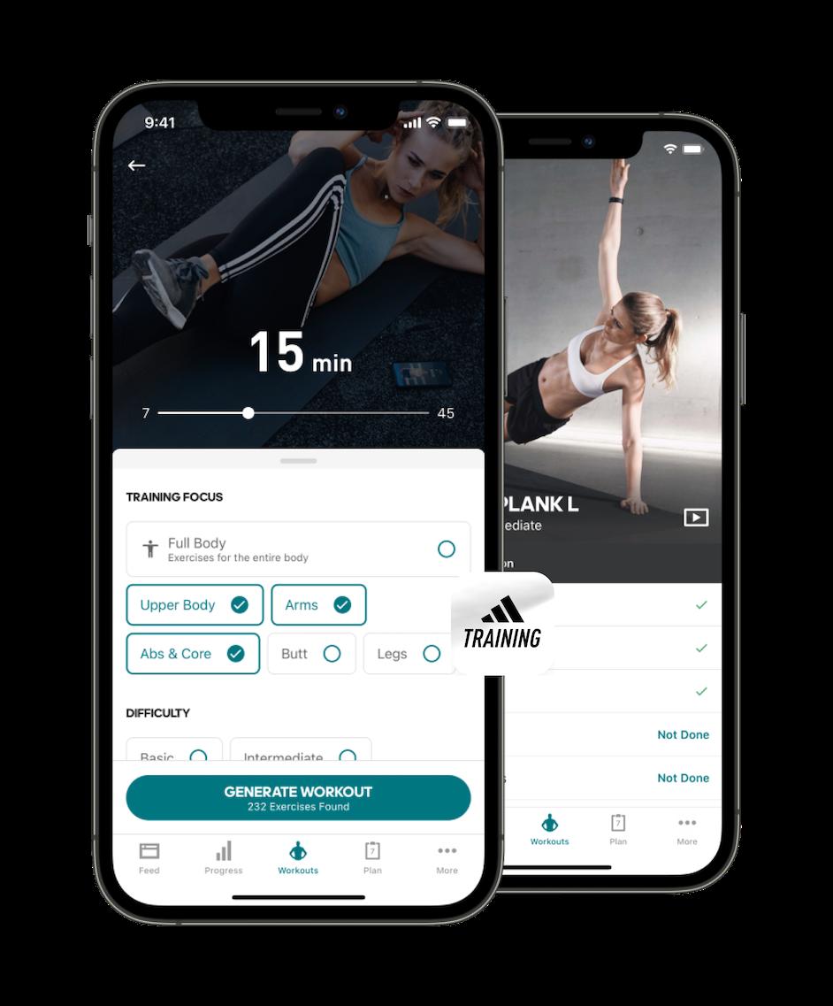 adidas Runtastic : applis adidas Running et adidas Training